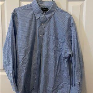 Blue bottom down shirt